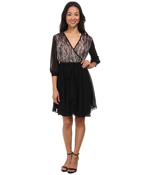 Gabriella Rocha - Hannah Chiffon Dress (Black/Tan) Women's Dress