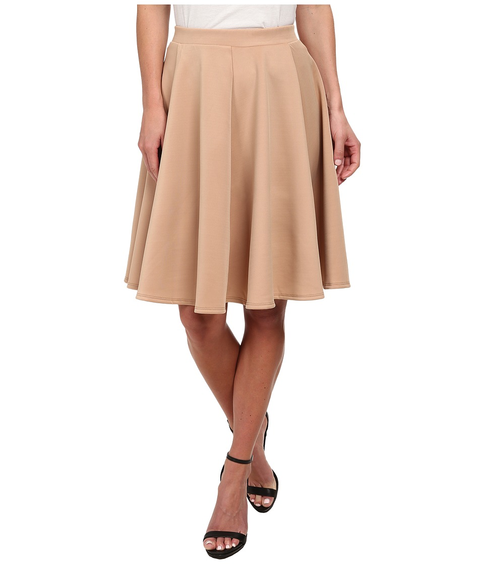 Gabriella Rocha - Jenny Scuba Skirt (Tan) Women's Skirt