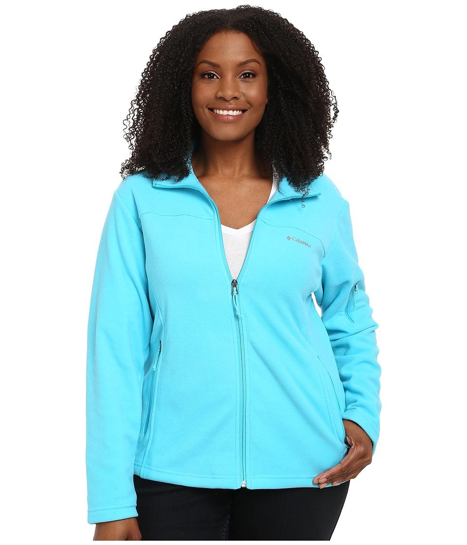 Columbia - Plus Size Fast Trek II Full Zip Fleece Jacket (Atoll) Women