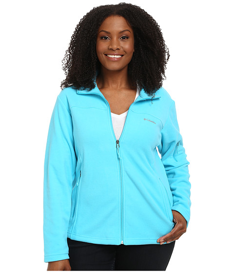 Columbia - Plus Size Fast Trek II Full Zip Fleece Jacket (Atoll) Women's Coat
