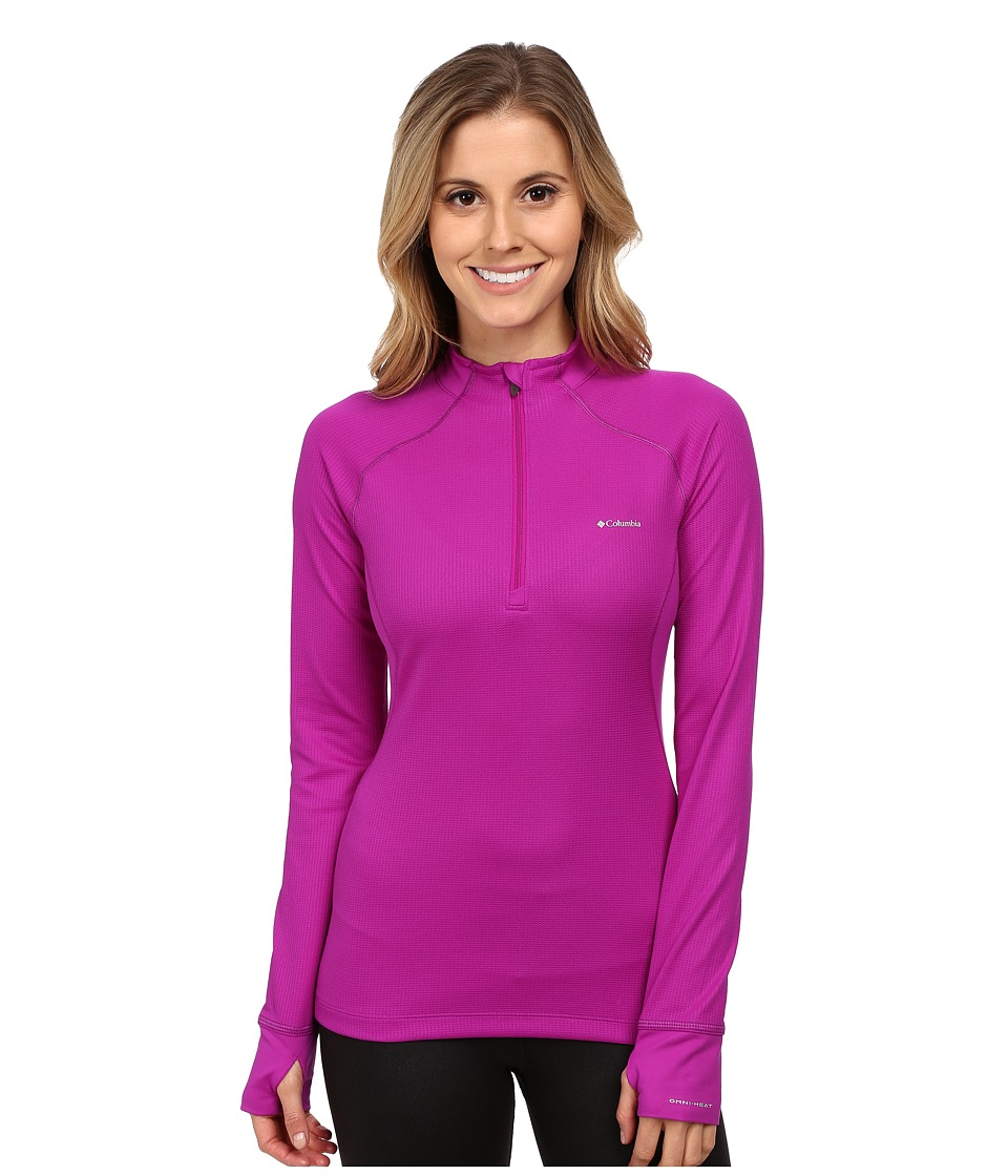Columbia - Heavyweight II Long Sleeve 1/2 Zip (Bright Plum/Purple Dahlia) Women