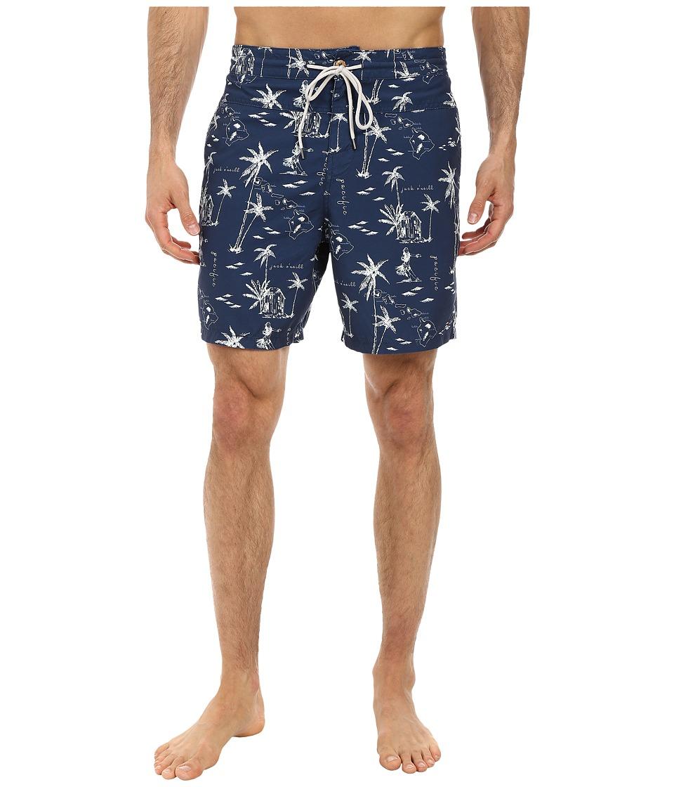 Jack O'Neill - Tropical Boardshorts (Navy) Men's Swimwear