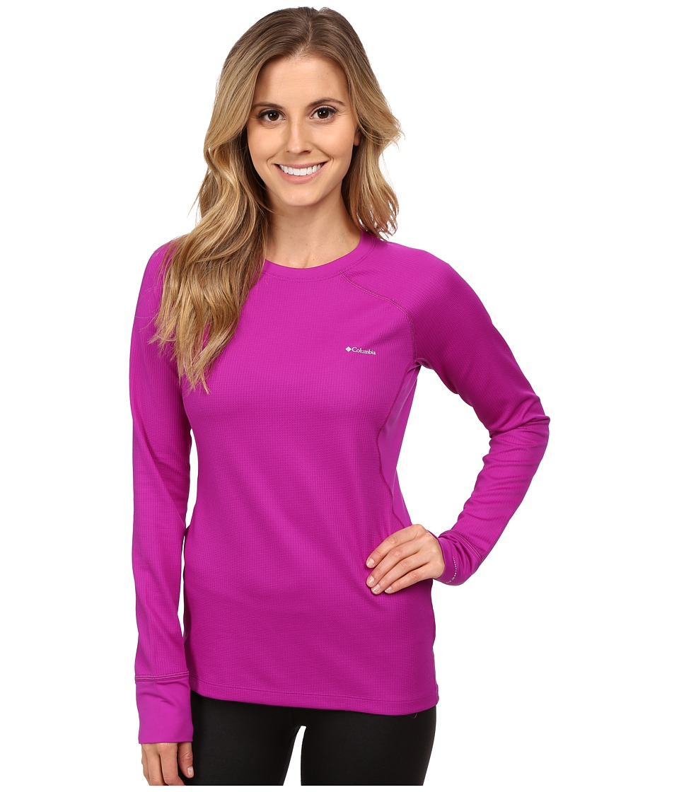 Columbia - Heavyweight II Long Sleeve Top (Bright Plum/Purple Dahlia) Women