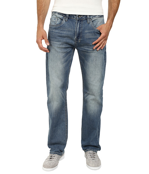 Buffalo David Bitton - Six Slim Straight Leg Jeans Morelia Stretch Fabric in Distressed/Worn (Distressed/Worn) Men