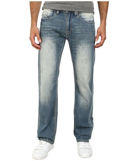 Buffalo David Bitton - Driven Straight Leg Jeans in Ventura Xs Stretch Fabric in Sanded Acid Spotted (Sanded & Acid Spotted) Men's Jeans