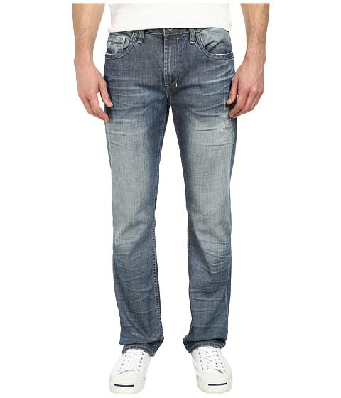 Buffalo David Bitton - Six Slim Straight Leg Jeans in New Spirit Fabric in Heavily Sandedblasted Crinkled (Heavily Sandedblasted & Crinkled) Men