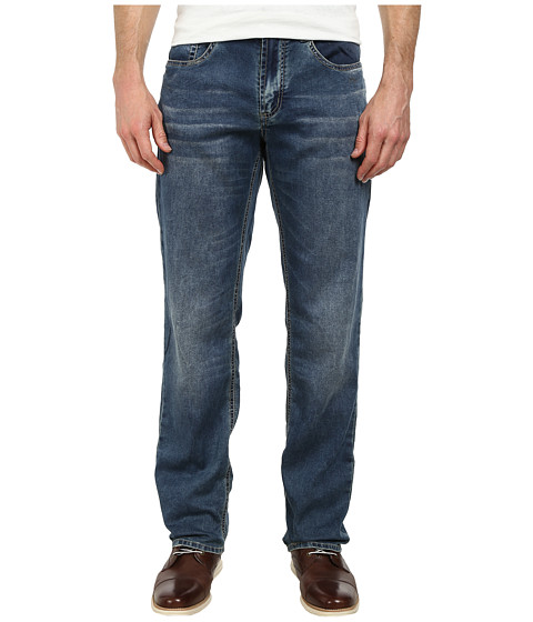 Buffalo David Bitton - Fred Easy Fit Fleece Jeans in Merkur Fabric in Worn Dusty (Worn & Dusty) Men
