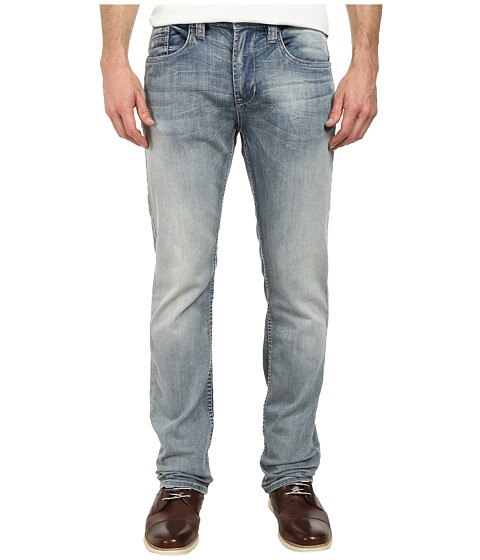 Buffalo David Bitton - Evan Slimmer Slim Jeans in Xs Ventura Stretch Fabric in Lightly Faded Torn (Lightly Faded & Torn) Men