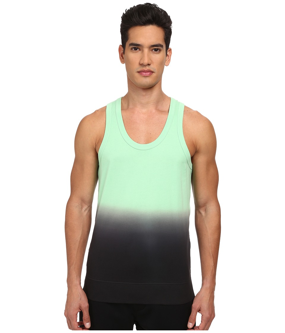 adidas Y-3 by Yohji Yamamoto - Jersey Dip Tank Top (Light Flash Green S15) Men's Sleeveless