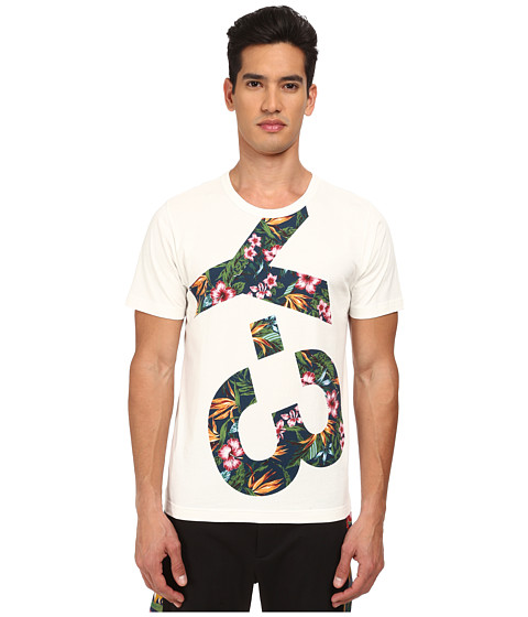 adidas Y-3 by Yohji Yamamoto - Logo Tee (Core White/Flower 2) Men's T Shirt