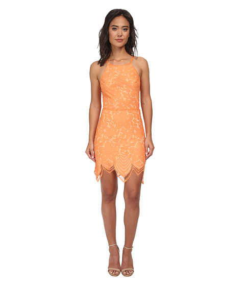 For Love and Lemons - Guava Mini Dress (Tropical Orange) Women's Dress