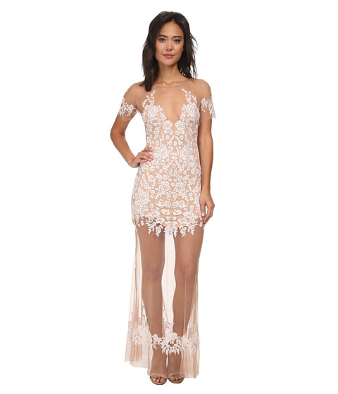 For Love and Lemons - Luau Maxi Dress (White/Nude) Women's Dress