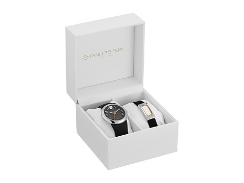 Philip Stein - 36mm Black Watch with Intergrated Strap and Sleep Box Set (Black) Watches