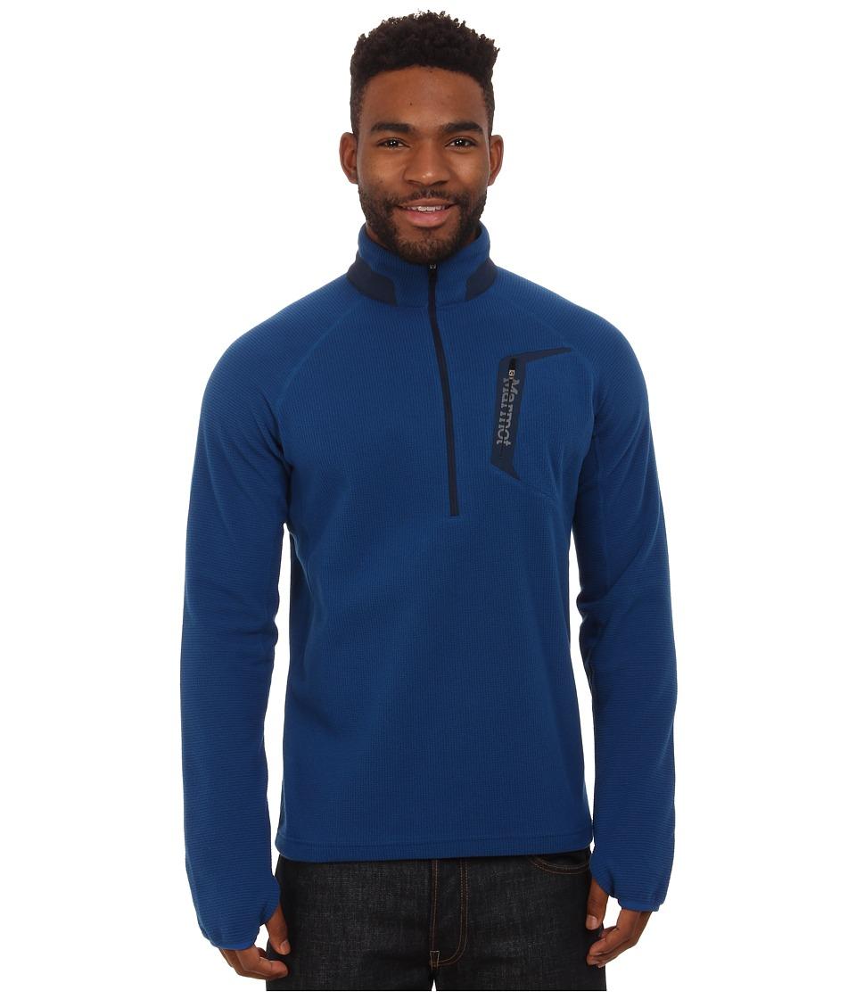 Marmot - Alpinist 1/2 Zip (Blue Night/Dark Ink) Men's Long Sleeve Pullover