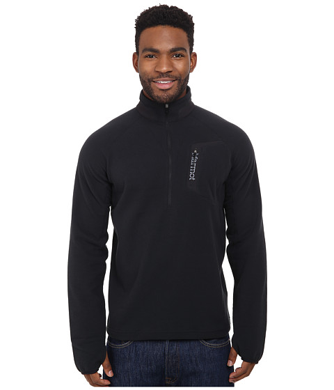 Marmot - Alpinist 1/2 Zip (Black) Men's Long Sleeve Pullover