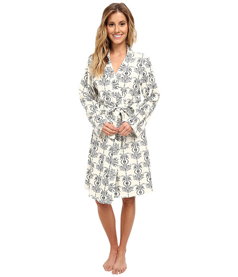 BedHead - Short Stretch Robe (Cream Seahorse) Women