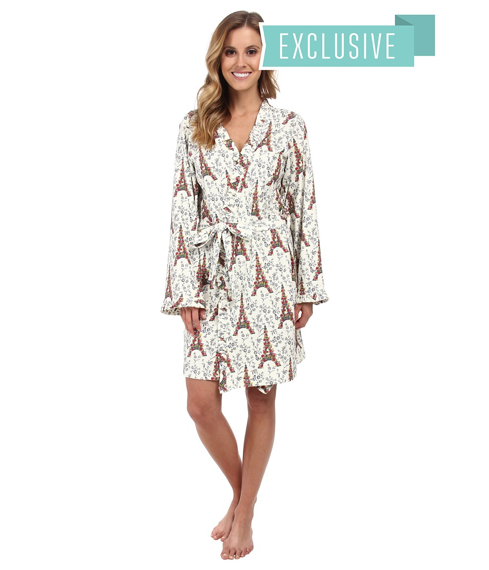 BedHead - Ruffle Robe (Blooming Eiffle Tower) Women's Robe