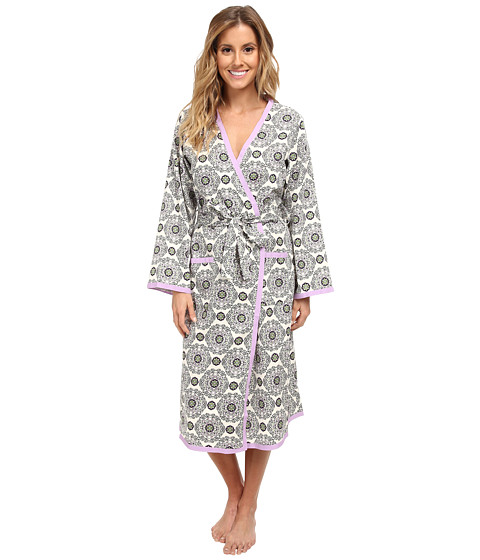 BedHead - Sateen Robe (Cream Medallion) Women