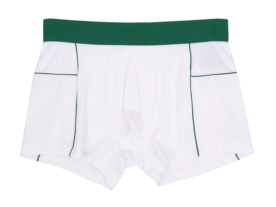 Lacoste - Motion Motion Trunk (White) Men's Underwear