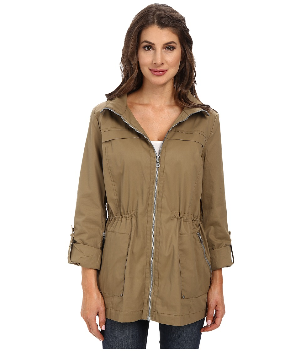 Sam Edelman - Cotton Anorak w/ Hood Detail (Tan) Women's Coat