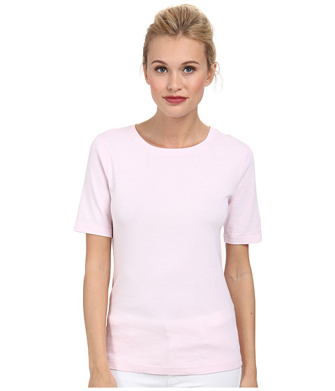 Three Dots - 9 Sleeve Crew (Sheer Pink) Women's Short Sleeve Pullover
