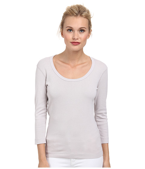 Three Dots - 3/4 Sleeve Scoop Neck (Vapor) Women