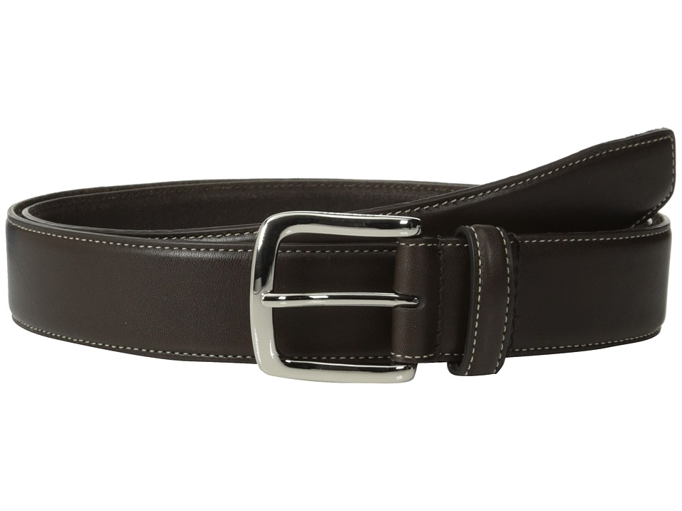 Cole Haan - 35mm Full Grain Veg Belt (Chocolate) Men's Belts