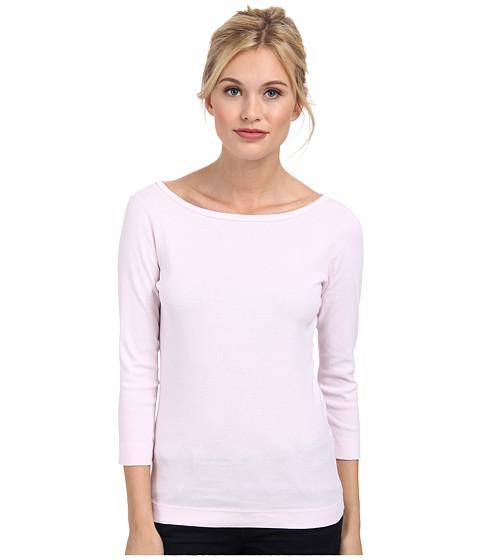 Three Dots - 3/4 Sleeve British Tee (Sheer Pink) Women