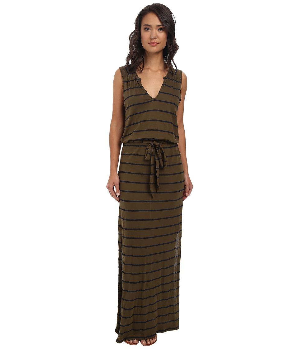 Three Dots - Belted Maxi Dress (Picholine) Women's Dress
