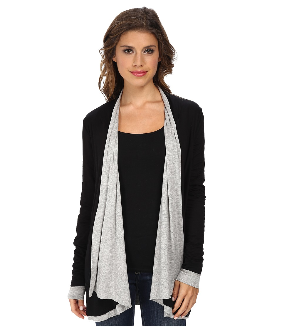 Three Dots - Reversible Wrap (Black/Granite) Women's Clothing