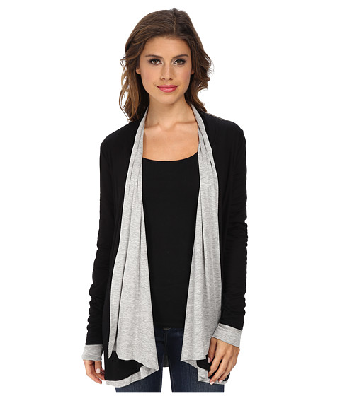 Three Dots - Reversible Wrap (Black/Granite) Women's Clothing