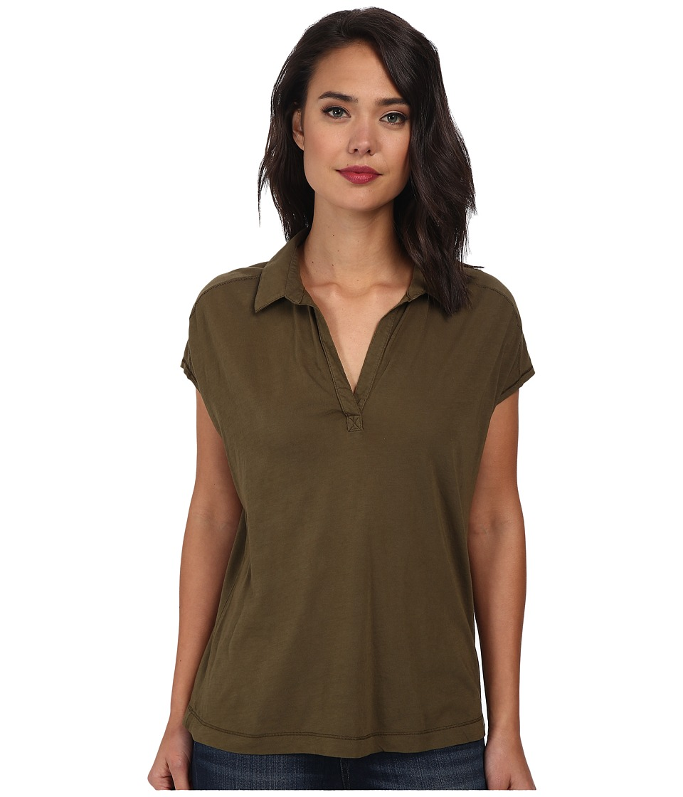 Three Dots - Cap Sleeve Polo (Picholine) Women's Short Sleeve Pullover