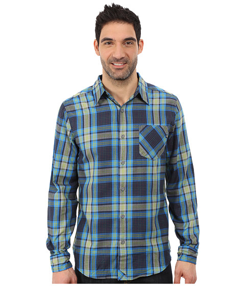 Marmot - Doheny Flannel LS (Dark Indigo) Men's Long Sleeve Button Up