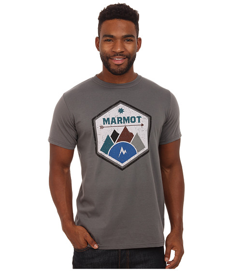 Marmot - Badge Tee SS (True Charcoal) Men's T Shirt