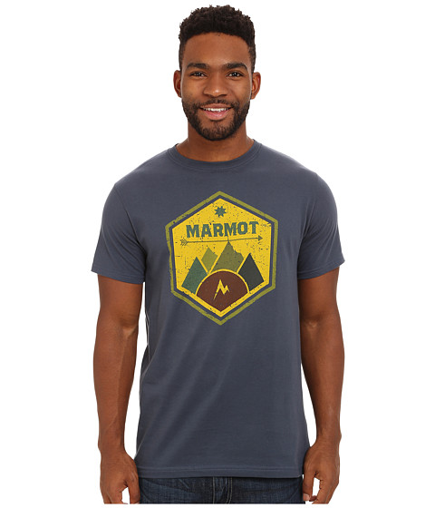 Marmot - Badge Tee SS (True Twilight) Men