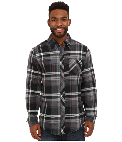 Marmot - Anderson Flannel L/S (Black) Men's Long Sleeve Button Up