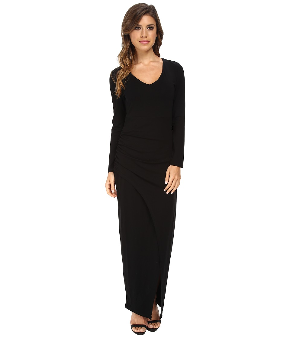 Bardot - Long Sleeve Maxi Dress (Black) Women's Dress
