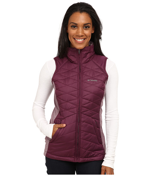 Columbia - Aurora's Glow Hybrid Vest (Purple Dahlia) Women's Vest