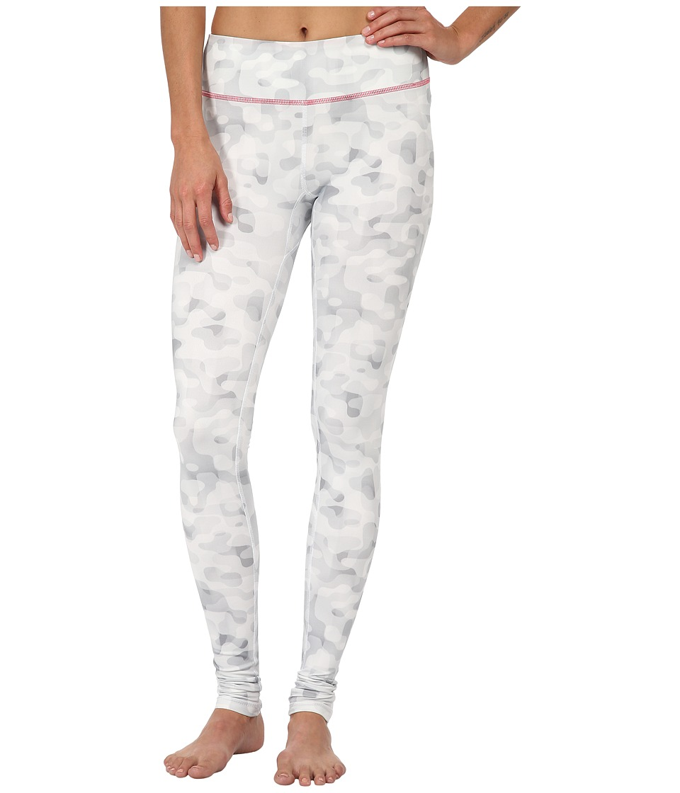 Columbia - Trail Bound Printed Legging (White Tonal Camo/Laser Red) Women's Casual Pants