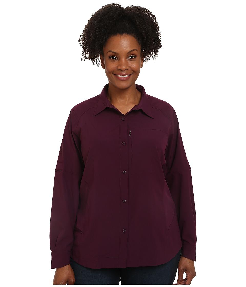 Columbia - Plus Size Silver Ridge L/S Shirt (Purple Dahlia) Women's Long Sleeve Button Up
