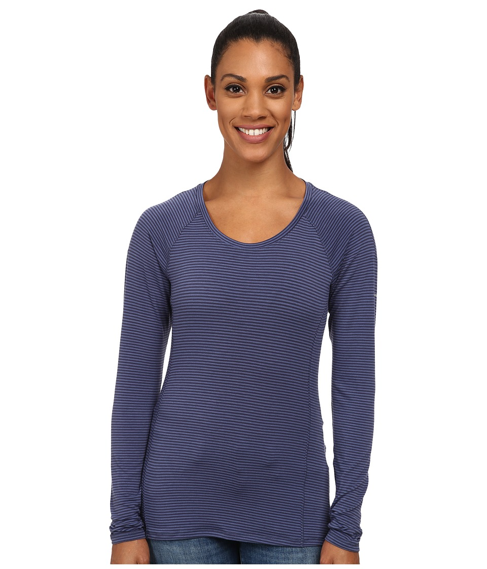 Columbia - Layer First Stripe Long Sleeve Top (Nocturnal/Bluebell Stripe) Women's Long Sleeve Pullover