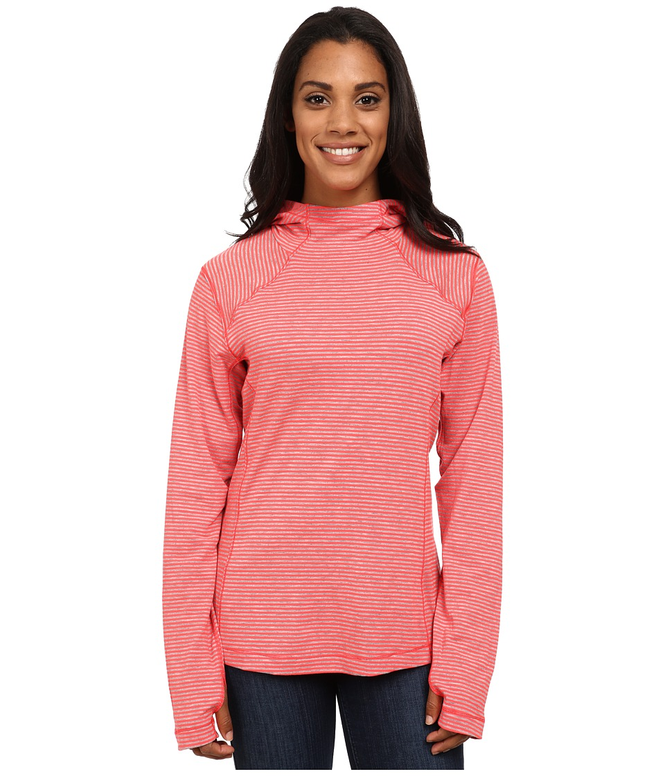Columbia - Layer First Hoodie (Laser Red Heathered Stripe) Women