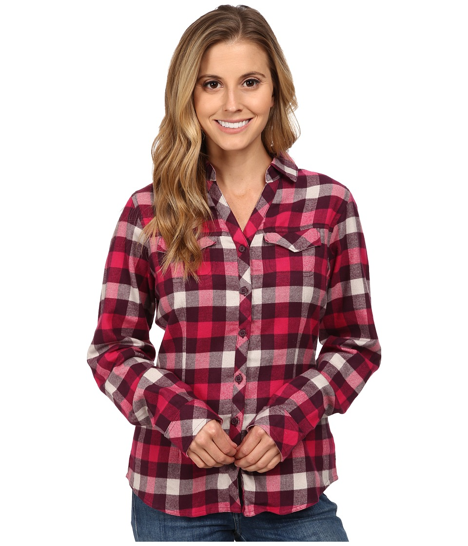 Columbia - Simply Put II Flannel Shirt (Purple Dahlia Check) Women's Long Sleeve Button Up