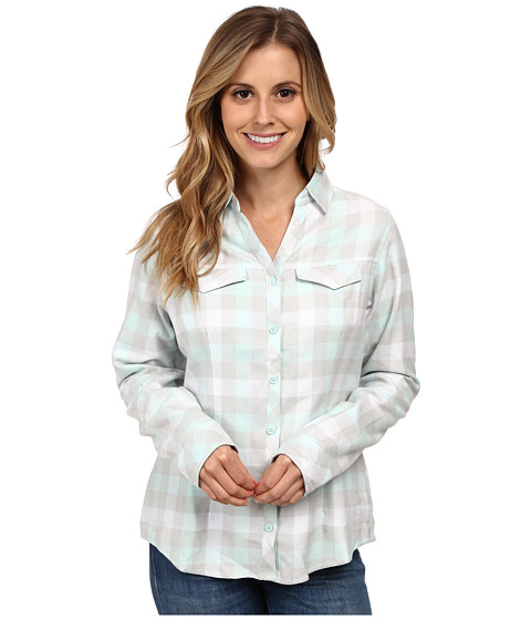 Columbia - Simply Put II Flannel Shirt (Blueglass Check) Women's Long Sleeve Button Up