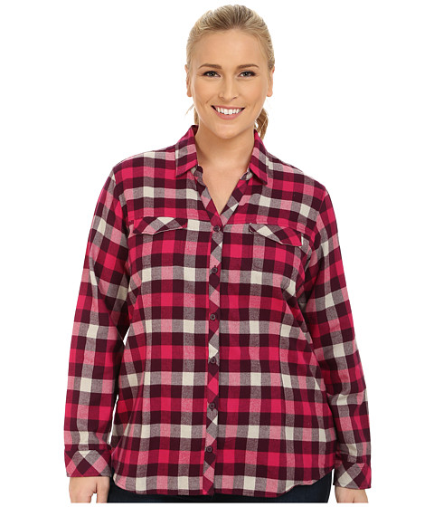 Columbia - Plus Size Simply Put II Flannel Shirt (Purple Dahlia Check) Women's Long Sleeve Button Up