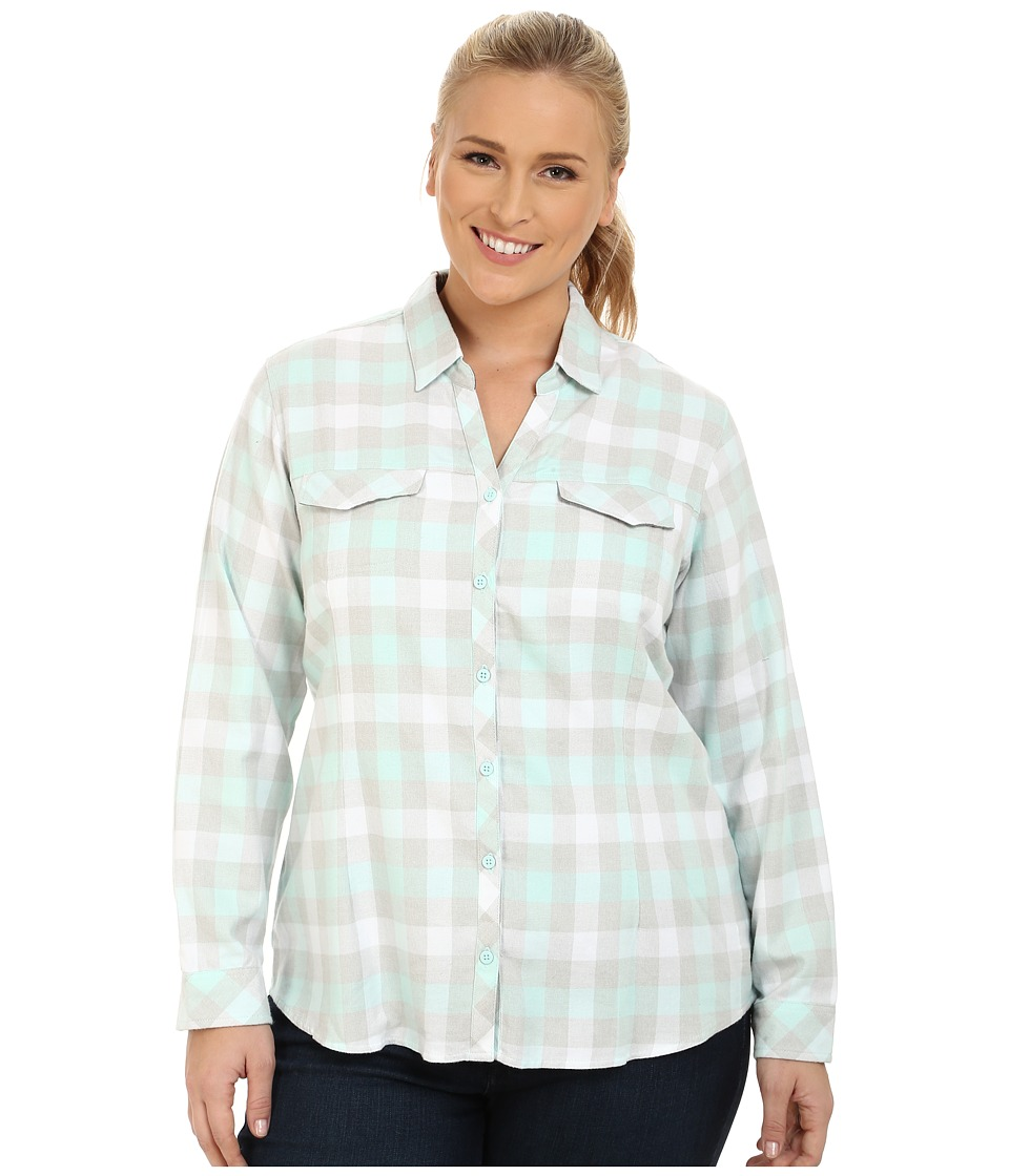 Columbia - Plus Size Simply Put II Flannel Shirt (Blueglass Check) Women