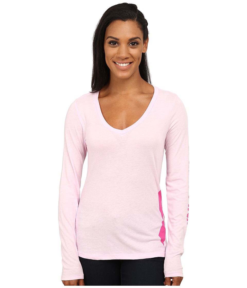 Columbia - Tested Tough in Pink Graphic Long Sleeve Shirt (Isla) Women's Long Sleeve Pullover