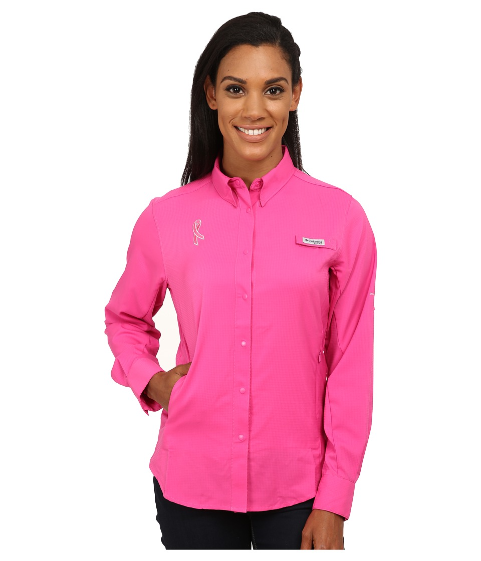 Columbia - Tested Tough In Pink Tamiami L/S Shirt (Pink Ice) Women's Long Sleeve Button Up