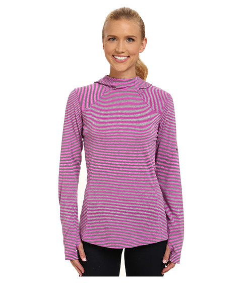 Columbia - Tested Tough in Pink Layer First Hoodie (Foxglove Heathered Stripe) Women's Sweatshirt