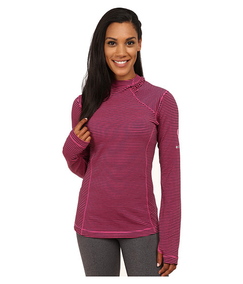 Columbia - Tested Tough in Pink Layer First Hoodie (Pink Ice/Black Stripe) Women's Sweatshirt